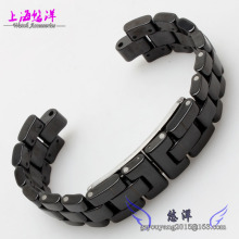 Black 6mm 7 5mm Ceramic Watch Band With Stainless Steel Buckle For Tiss J12
