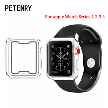 Ultra-thin TPU Watch Case for Apple Watch Series 4 40mm 44mm Protective Cover Shell Frame for Apple Watch 42mm 38mm Series 1 2 3