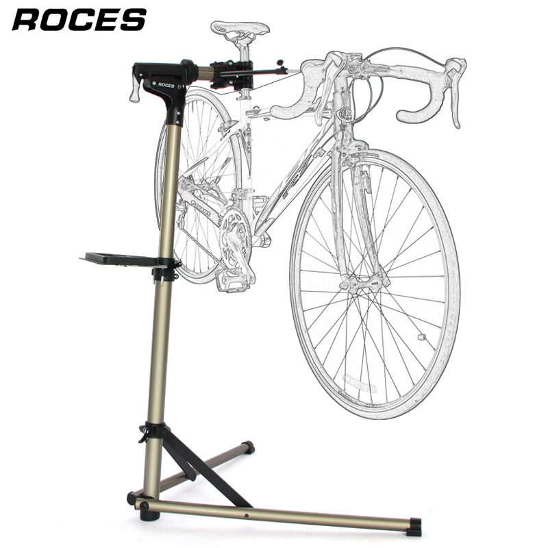 Aluminum Alloy Bike Repair Stand Professional Fixed Folding Home Mechanic Work Stand Adjustable Maintenance Storage Stand-in Bicycle Rack from Sports & Entertainment    1