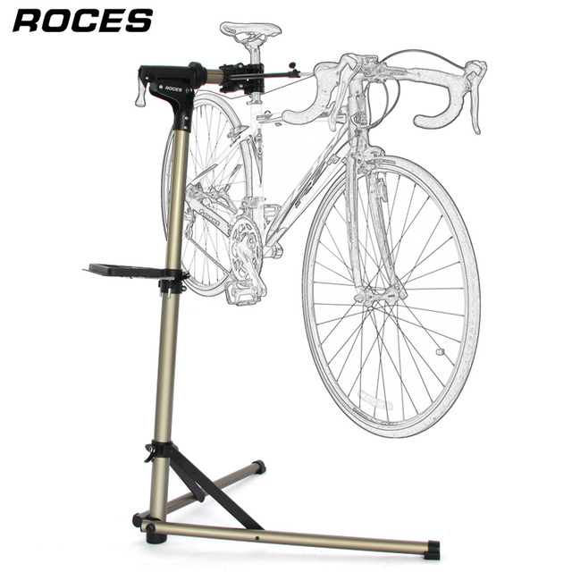 Aluminum Alloy Bike Repair Stand Professional Fixed Folding Home Mechanic Work Stand Adjustable Maintenance Storage Stand