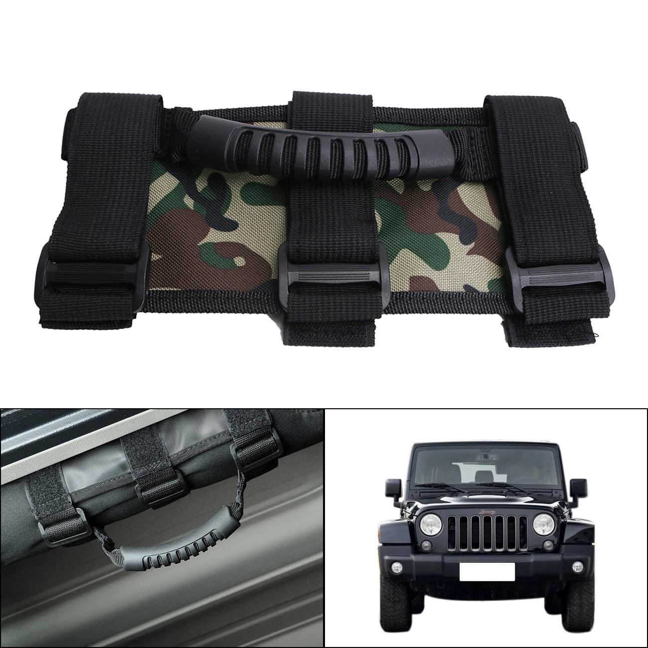 Camo Adjustable Triple Strap Seat Roof Board Racing Roll