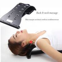 10 Magnetic Therapy Points Stretching Back Massager Lumbar Support Stretcher Neck Relax Fitness Equipment Spine Chiropractic