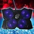 CoolCold Льда Четыре USB 2.0 Поклонники Ноутбуков PC База Охлаждающая подставка Кулер С Подставкой для Ноутбука Ноутбук Компьютер Периферийных Устройств