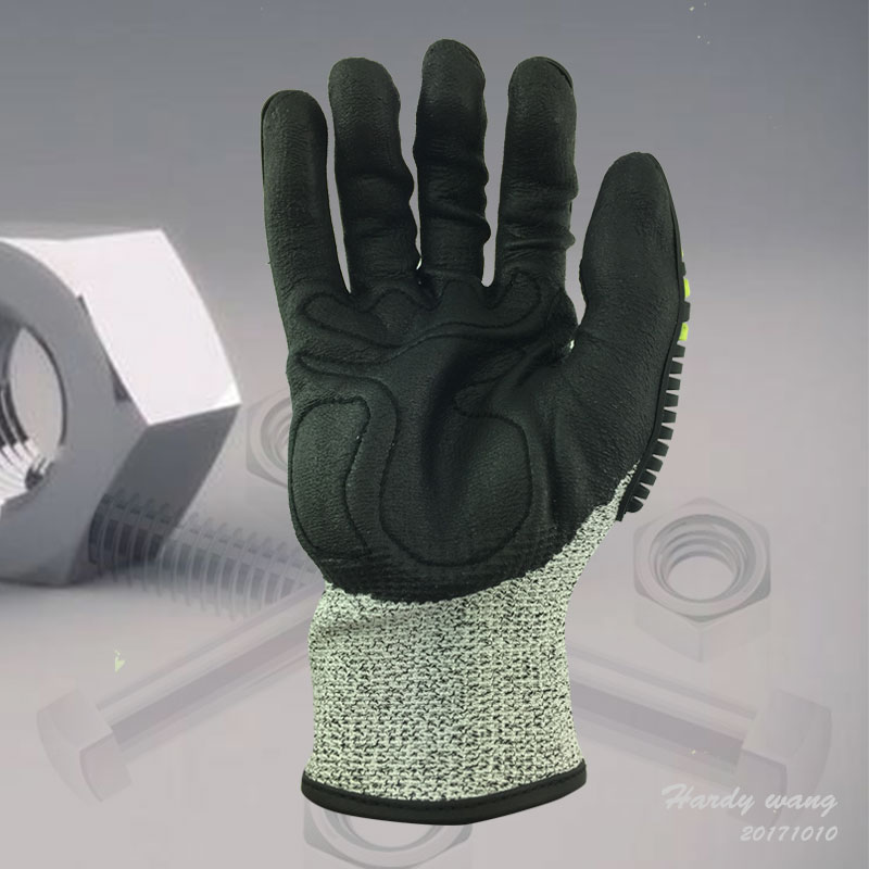 Anti Vibration And Shock Safety Glove Anti Impact Resistant Oilfield Mechanics Work Glove Safety Gloves Workplace Safety Supplies