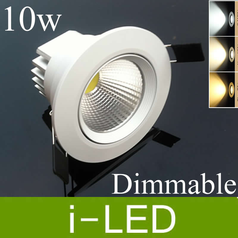 Lights & Lighting New Arrival 10w Cob Led Ceiling Downlight Led Dimmable Recessed Lights Cabinet Lamp Warm Cold White Ac85-265v 12v 60angle+driver Led Lighting