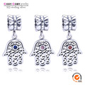 Fit Original Pandora Bracelet 925 Sterling Silver Hamsa Hand Pendant Dangle Charms Evil Eye Beads berloques para pulsera Jewelry