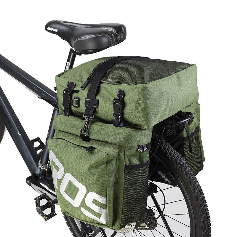 ROSWHEEL 14892 carretera de montaña bicicleta 3 en 1 baúl bolsas ciclismo doble lado Rack trasero cola alforjas asiento paquete luggage Carrier
