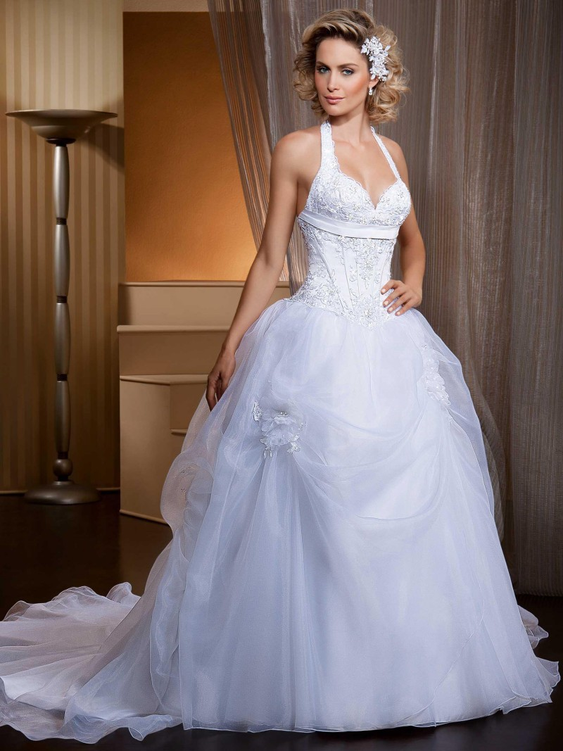 Vestidos de noiva ball gown lace wedding dresses for Short wedding dress with removable train