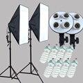 Yuguang фотовспышка 100-240 в четыре гнезда-держатель лампы с непрерывным освещением 50*70 см софтбокс 2 шт. включает 8 шт. 150 Вт булус