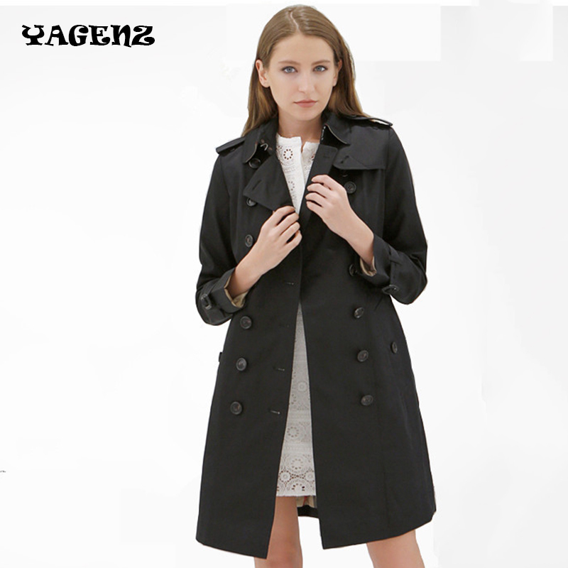 Autumn Winter runway designer womans outwear black red high quality   trench   coat rhinestone beading collar fashion cute   trench