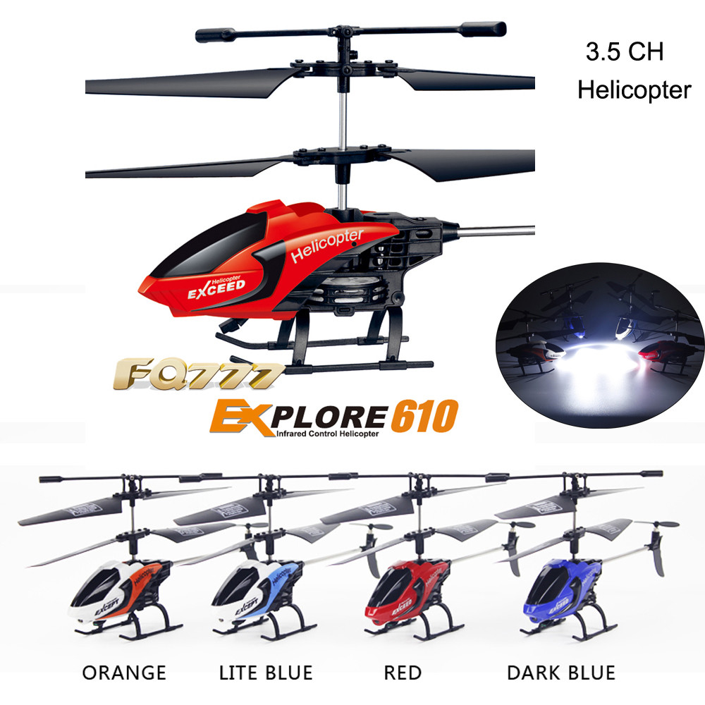 HIINST Mini Helicopter Radio Remote Control Aircraft RC 3.5CH Mini Micro With LED Light Toy Flying Under Dark Environment Jan1