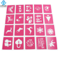 OPHIR 20PCS Reusable Airbrush Template Sheets Henna Glitter Tattoo Stencils Set for Halloween Body Art Tattoo_STE003