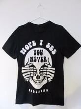 Gothic Skull Black T-shirt grunge tumblr  aesthetic goth tees tops