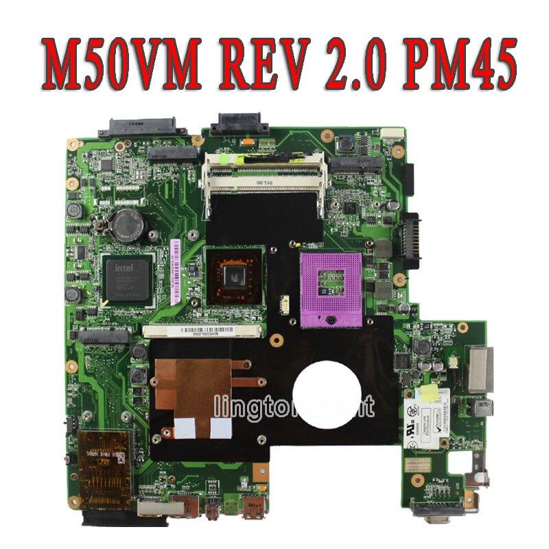 все цены на for ASUS L50VN X57V M50VC M50VM M50VN Laptop Motherboard NPCMB1100-A05 NPCMB1500-A02 Mainboard M50VM REV 2.0 PM45 100%  test онлайн