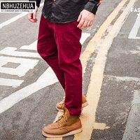BIG BUY XL 6XL Male Trousers 2016 Autumn Cotton Fashion Casual Pants Men Straight Baggy Pants