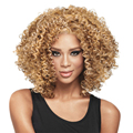Hot Sale Kanekalon Synthetic Fiber Afro Wig African American Wigs For Black Women Kinky Curly Full Wig Blonde Peruca Peluca