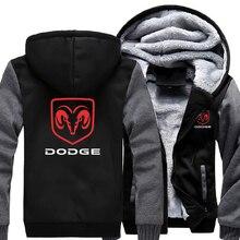 Dodge Hoodies Jacket Man Coat Winter Jacket Men Casual Wool Liner Fleece Hoodie Thicken Dodge Logo Sweatshirts Hoody Men Hoodies gibson logo men s hoodie small