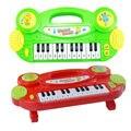 Miúdos dos desenhos animados Piscando Brinquedo Música de Órgão Eletrônico do Teclado de Piano Piano de Brinquedo Musical Educacional Cor Aleatória K5BO