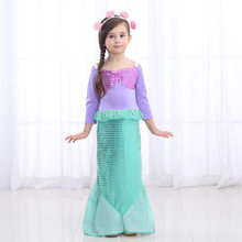 13236b18b2c3 Del bambino Delle Ragazze Della Principessa Ariel Dress Bambino La  Sirenetta Ariel Principessa Cosplay Costume di Fantasia Della.