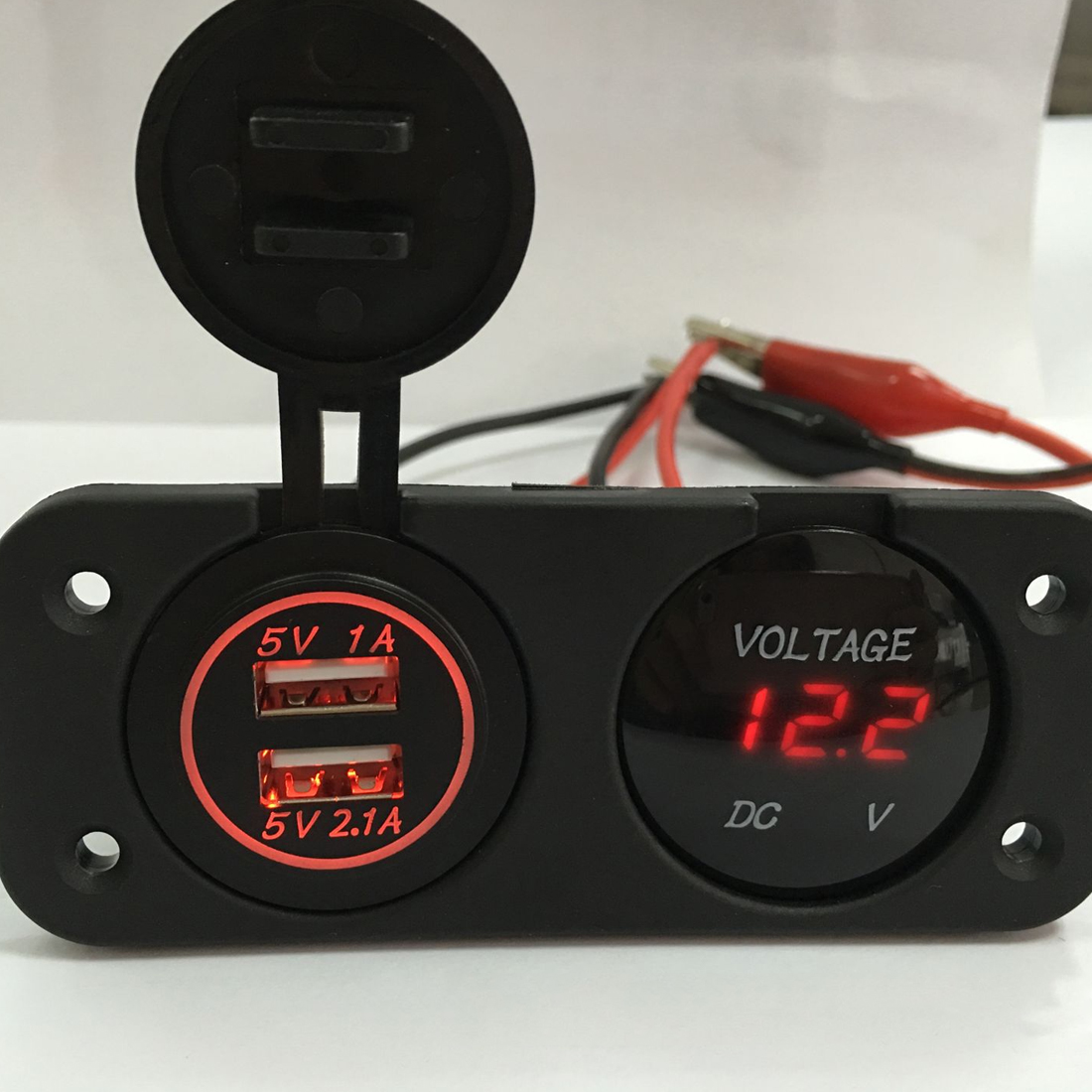 Display Voltmeter Best Quality Car Motorcycle DC12V-24V LED Panel Digital Voltage Meter