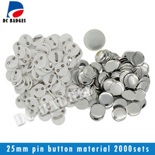 """1""""(25mm) Plastic Pin Badge Material,Blank button parts 2000pcs"""