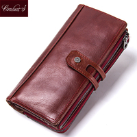 Hot Sale 2018 Wallet Brand Genuine Leather Women Wallets Female Card Holder Long Lady Clutch Carteira