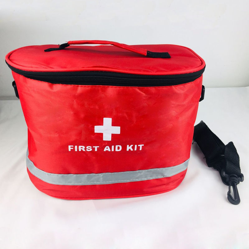 Outdoor First Aid Kit Outdoor Sports Red Nylon Waterproof Cross Messenger Bag Family Travel Emergency Medical Bag DJJB014