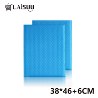 40pcs 38*46cm blue co-extruded film bubble envelope bag clothes express bag clothing thickening shockproof foam bubble bag