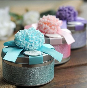 50pcs Small Metal Tin Box Elegant Wedding Favor Candy European Storage Circle Design