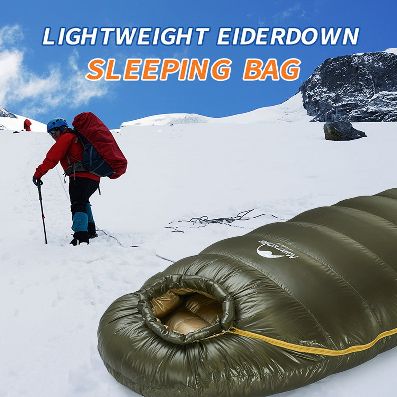 Naturehike's new outdoor duck down sleeping bag mummy sleeping bag winter sleeping bag, suitable for cold weather. naturehike 14 degree duck down sleeping bag adult mummy sleeping bag outdoor winter sleeping bag cold weather nh15dk1000l