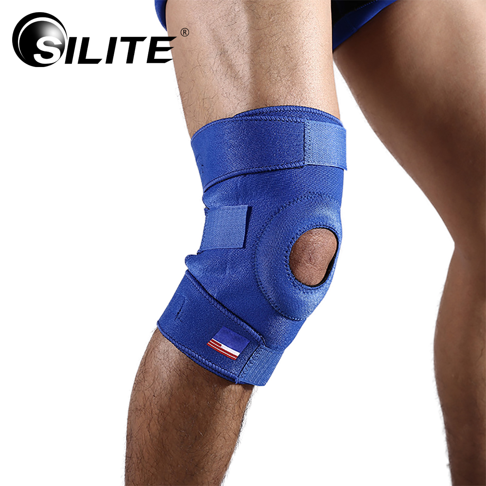 SILITE 2PCS Women And Men Nylon Adjustable Basketball Volleyball Kneepad Strengthen Protector Rodilleras Deportivas Pad Brace