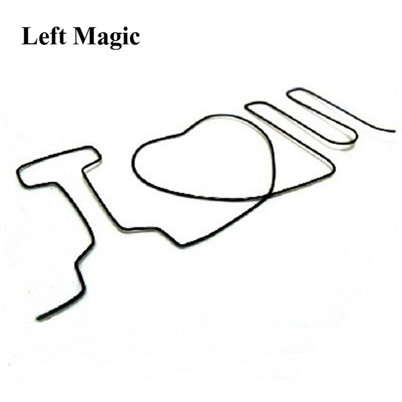 1pcs /lot Hot Sale Sihir Memory Iron Wire I Love U - I Love You Magic Tricks Magic Show Close Up Magic Illusion E3103