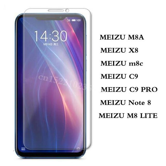 Protector de pantalla Meizu X8 vidrio templado para Meizu MEIZU C9/C9 PRO Nota 8 M8/M8 LITE película protectora de vidrio m8c
