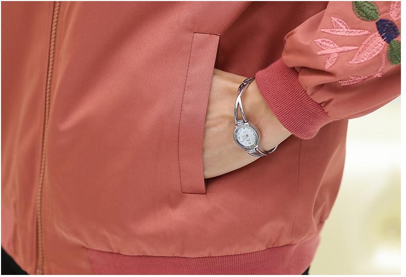 De À Patchwork Couleur Vêtement 2019 Veste D'extérieur Vert Femmes orange Et Taille Plue Vestes amp; Manches rose Printemps Longues Glissière Manteaux T376 vEvnd0Px