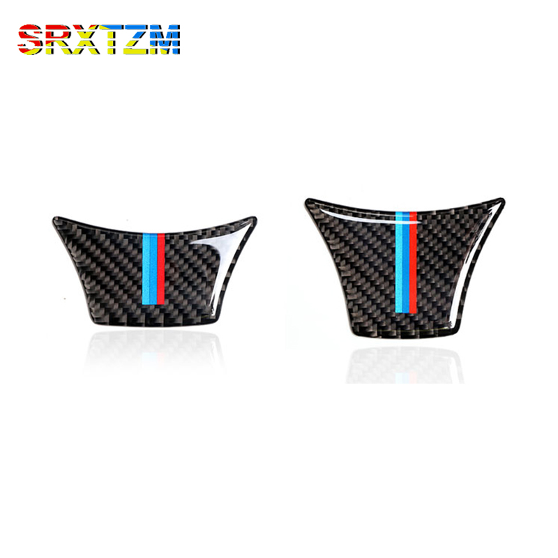 SRXTZM Carbon Fiber Steering Wheel Sticker M Stripe Emblem