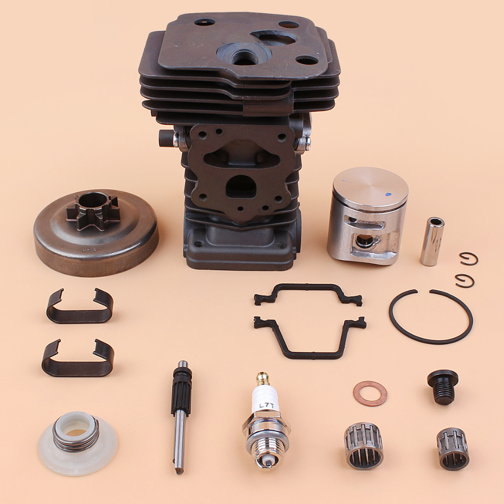 Cylinder Piston Clutch Drum Oil Pump Worm Gear Bearing Kit Fit HUSQVARNA 445 445e Chainsaw Chain Saws Replacement - 42MM 42mm cylinder piston ring clips assembly kit fit husqvarna 445 445e replace oem no 544 11 99 02 page 9