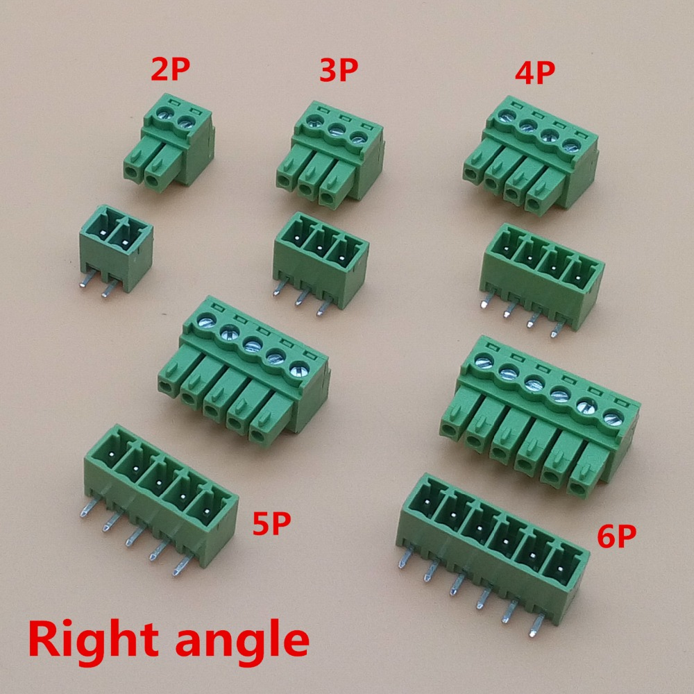 10 sets 3.81mm 2/3/4/5/6/7/8 pin Right angle Terminal plug type 3.81 pitch connector pcb screw terminal block 10 sets 5 08 3pin right angle terminal plug type 300v 10a 5 08mm pitch connector pcb screw terminal block free shipping