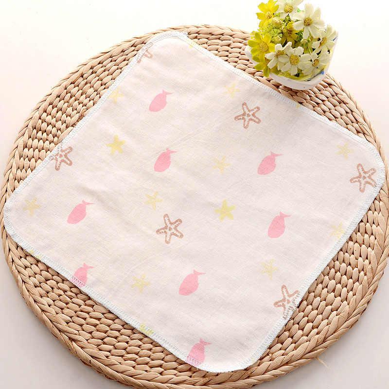 Хлопковое газовое пончо, квадратные полотенца, полотенце для лица для новорожденных, ручное полотенце для купания, Детские Мультяшные нагрудники, 30*30 см, Набор платков