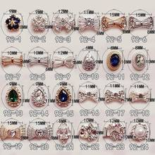 Zircon bow gem diamond alloy phototherapy nail elliptic drop ornament