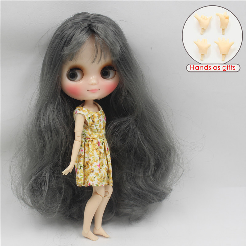 Free shipping Middie blyth Doll BL9016 grey hair with bangs transparent skin joint body 1/8 20cm bjd gift toy neo цена