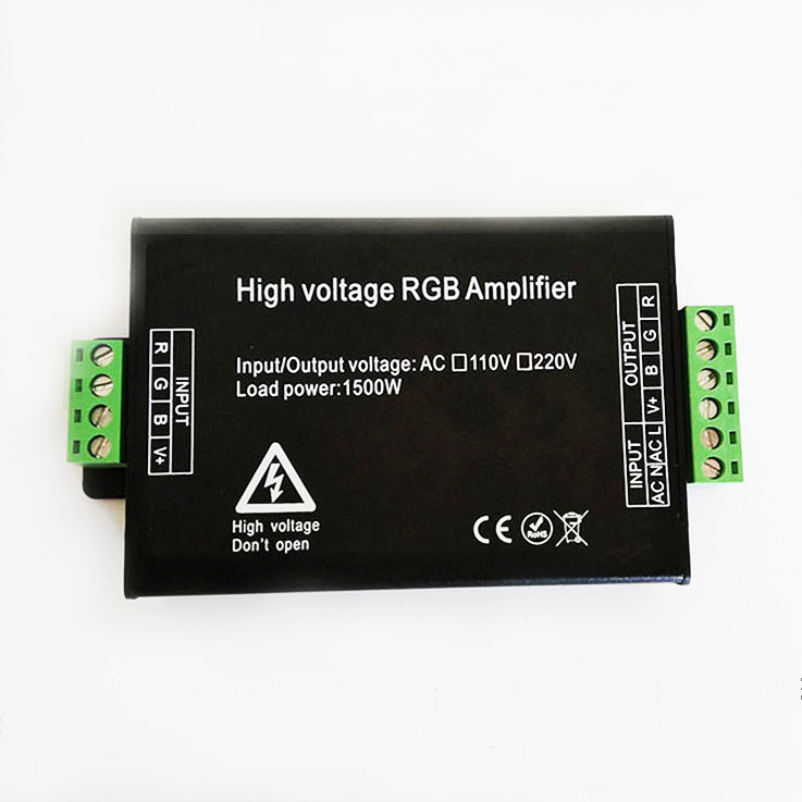 LED RGB Amplifier controller AC 110V 220V 1500W for 110V 220V 5050 3528 RGB LED Strip