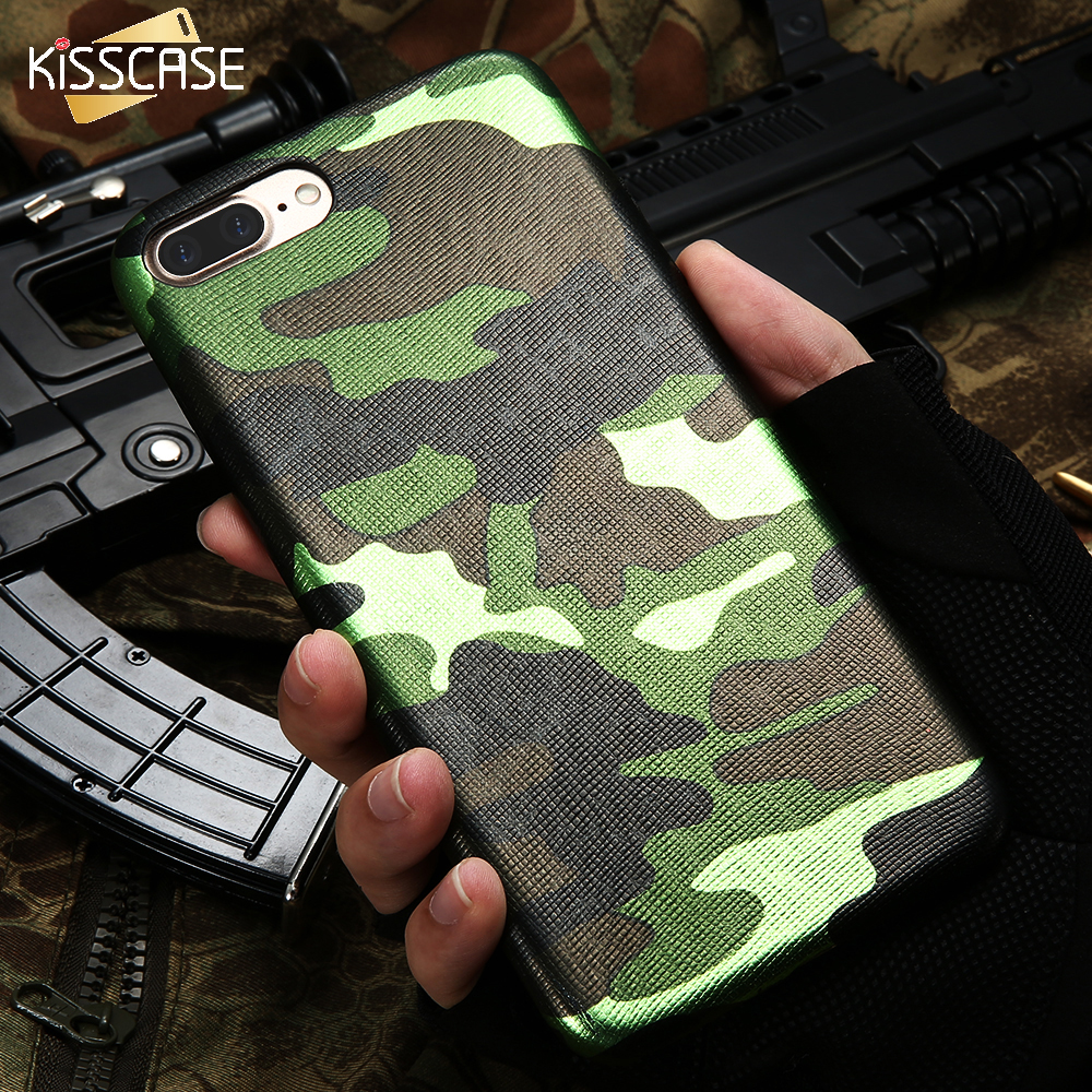 KISSCASE Fashion Army Camouflage Case For iPhone 6 6S 5S SE 6 Plus 6S Plus 7 7 Plus Soft TPU Man's Back Silicon Gel Cover Coque
