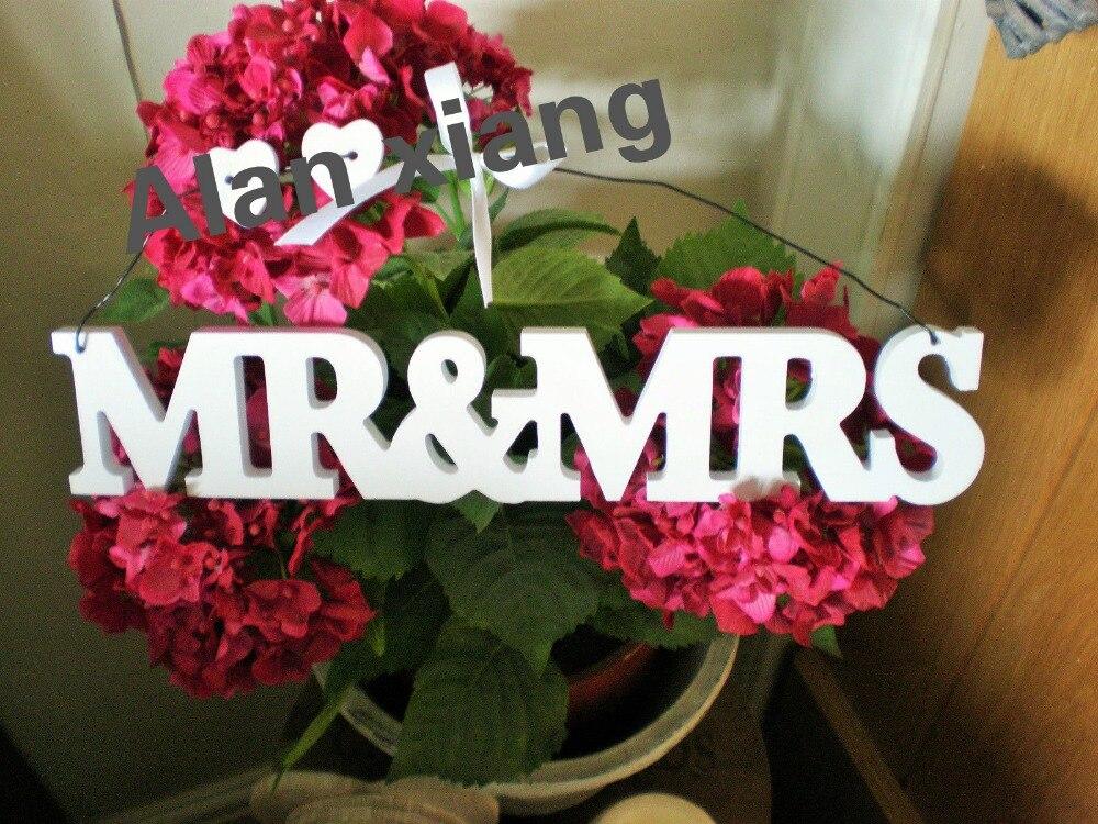 vintage en bois m et mme debout libre mot lettre signe de mariage decoration h8cmw40cm