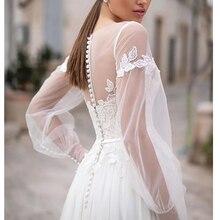 Фея Лори пляж свадебное платье Кружева Аппликации дизайн пуговицы сзади свадебное платье длиной до пола Свадебные платья