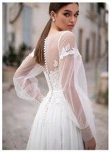 Сказочное пляжное свадебное платье LORIE с кружевной аппликацией, новое дизайнерское свадебное платье с пуговицами на спине, свадебное платье в пол