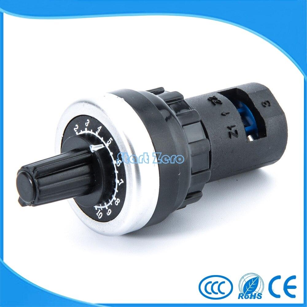 2PCS LA42DWQ-22 22mm 1K 2K 5K 10K Ohm Variable Speed Drive Potentiometer vsd pot 10x 5w watt 2r2 2 2 ohm 5
