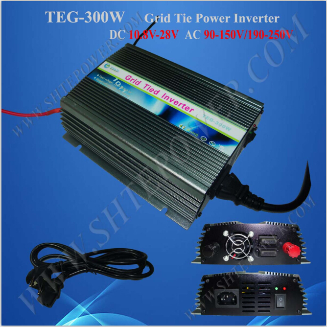 Fan cooling grid tie 10.8-30v micro inverter solar 300w pure sine wave 220v solar power on grid tie mini 300w inverter with mppt funciton dc 10 8 30v input to ac output no extra shipping fee