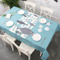 High Quality Cotton Linen Table Cover Tablecloth Geometric Printed Thicken Table Cloth for Dining Table Home Decoration
