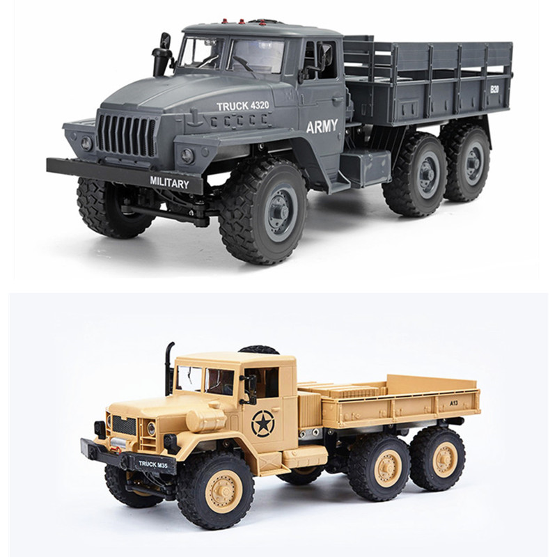 1:12 American Dodge M35A2 Army Truck Soviet Ural 4320 Army Truck Six-wheel Drive Full Proportion Remote Control Car building soviet citizens with american tools