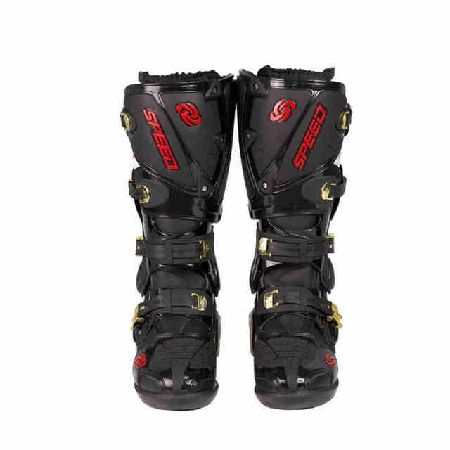 Upgraded version rivet SPEED BLACK motorcycle boots men speed motorcycling motocross boot motobotinki motorboats bottes moto